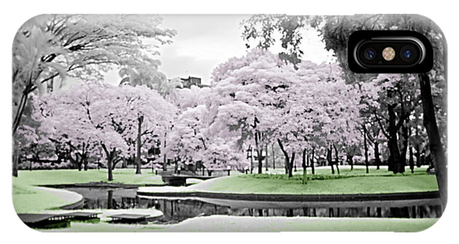 Infrared Garden Trees Wather IPhone X Case featuring the photograph Magic Garden by Galeria Trompiz