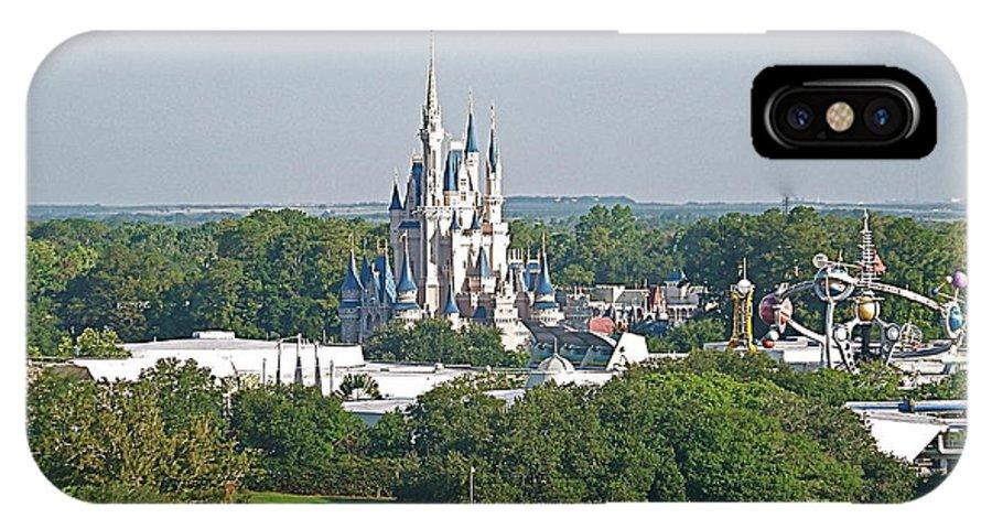 Wdw IPhone X Case featuring the photograph Magic Kingdom by Carol Bradley