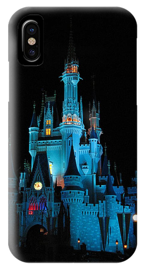 Disney IPhone X Case featuring the photograph Magic Kingdom by Stacey May
