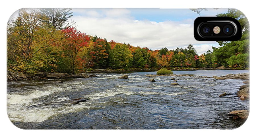 Magnetawan IPhone X Case featuring the photograph Magnetawan River In Fall by Les Palenik