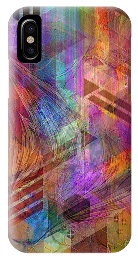 Magnetic Abstraction IPhone Case featuring the digital art Magnetic Abstraction by John Beck