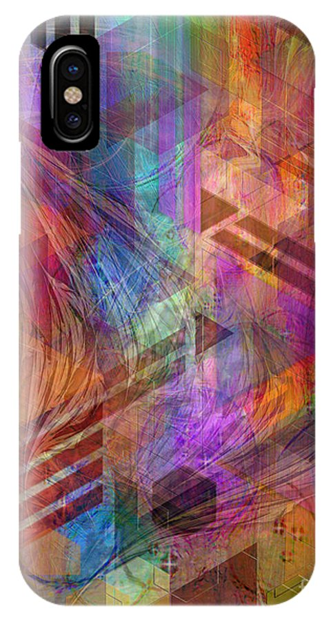Magnetic Abstraction IPhone X Case featuring the digital art Magnetic Abstraction by John Beck