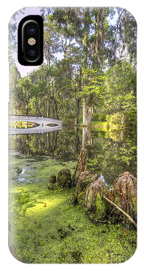 Magnolia Plantation Gardens IPhone X Case featuring the photograph Magnolia Plantation Bridge Cypress Garden by Dustin K Ryan