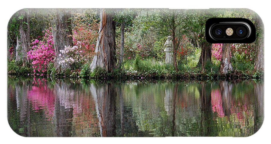 Magnolia Plantation IPhone X Case featuring the photograph Magnolia Plantation Gardens Series Iv by Suzanne Gaff
