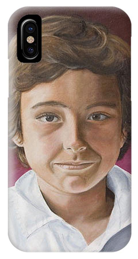 Portrait IPhone X Case featuring the painting Magnus by Rob De Vries
