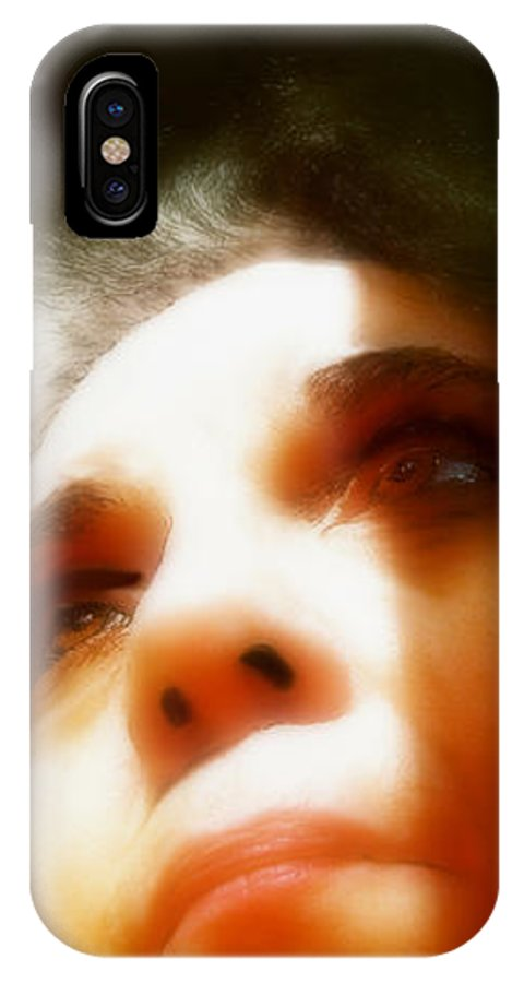 Portrait IPhone X Case featuring the painting Maid Of Constant Sorrow  Self-portrait by RC DeWinter