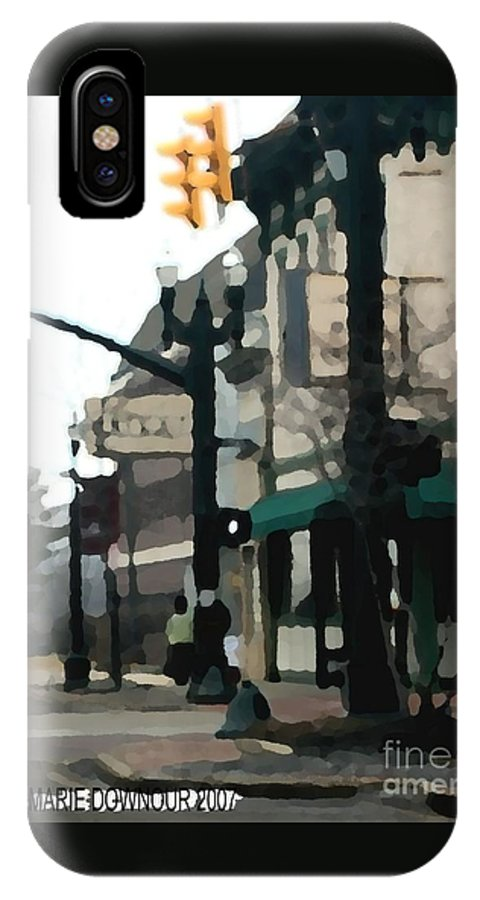 Landscape IPhone X Case featuring the photograph Main Street by Dawn Downour