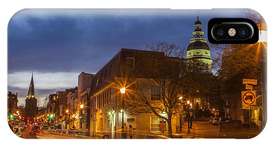 Annapolis IPhone X Case featuring the photograph Main Street In Annapolis by Richard Nowitz