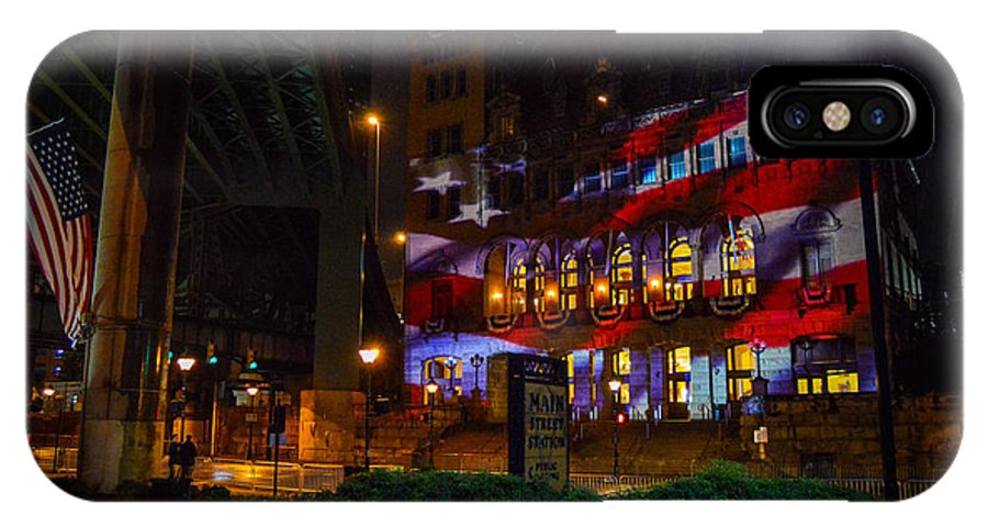 Richmond IPhone X Case featuring the photograph Main Street Station At Night by Aaron Dishner