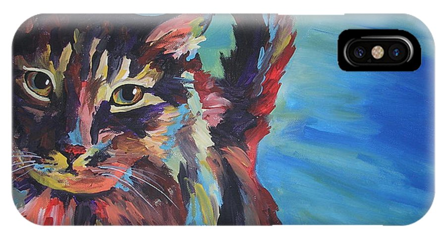 Cat IPhone Case featuring the painting Maine Coon by Caroline Davis