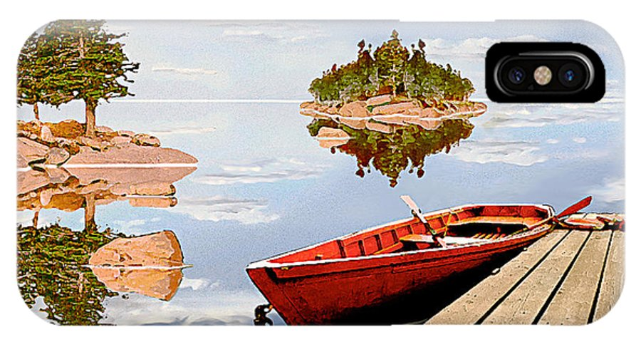 Maine IPhone X Case featuring the photograph Maine-tage by Peter J Sucy