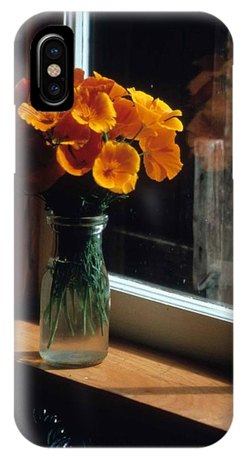 Maine Windowsill IPhone X Case featuring the photograph Maine Windowsill by Laurie Paci