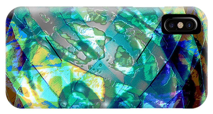 Abstract IPhone X / XS Case featuring the digital art Mainspring Of Time by Seth Weaver
