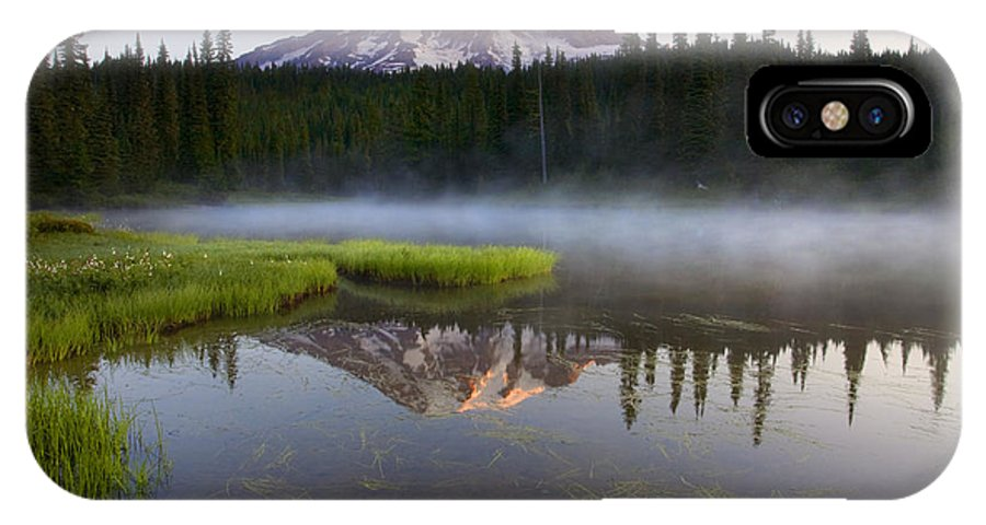Lake IPhone Case featuring the photograph Majestic Dawn by Mike Dawson