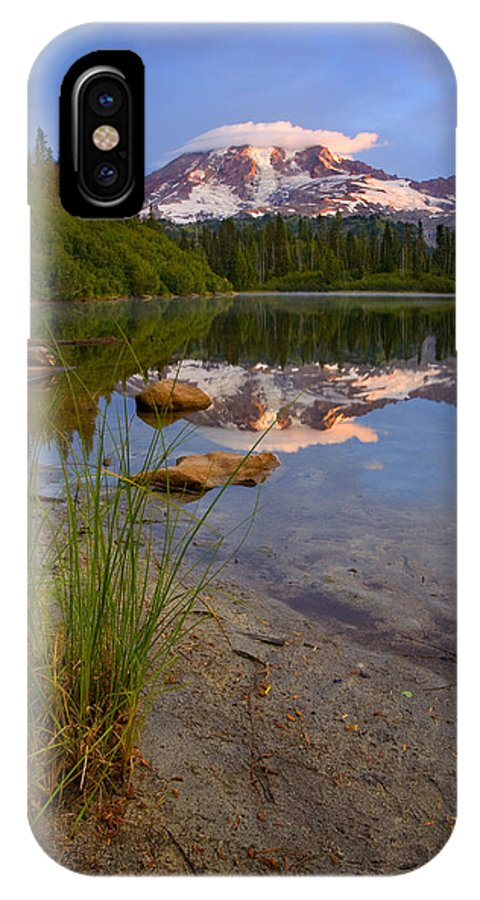Mt. Rainier IPhone Case featuring the photograph Majestic Glow by Mike Dawson