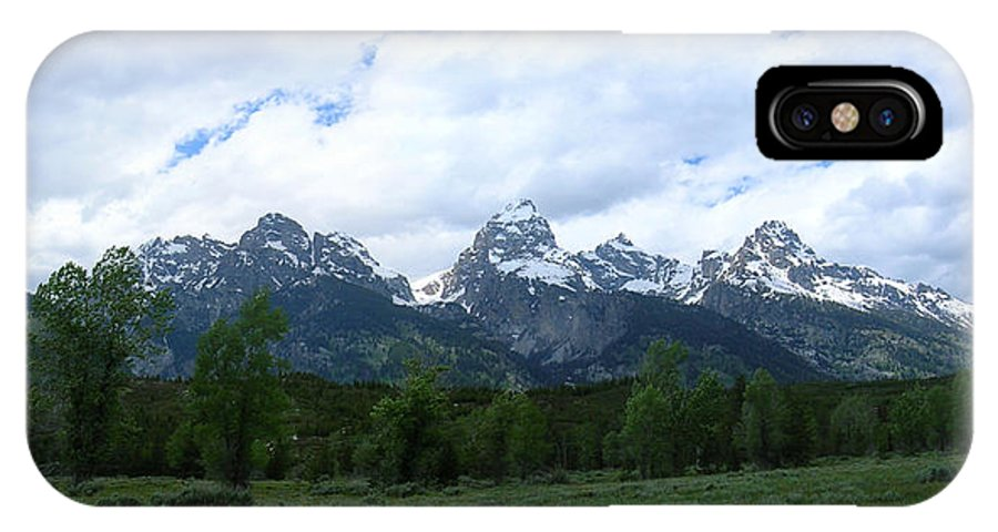 Grand IPhone X Case featuring the photograph Majestic Grand Tetons by George Jones