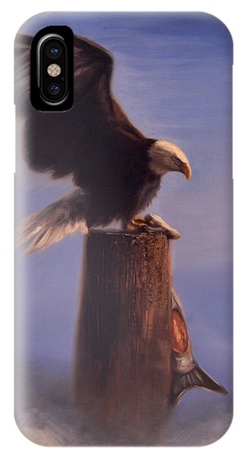 Oil IPhone X Case featuring the painting Majestic by Greg Neal