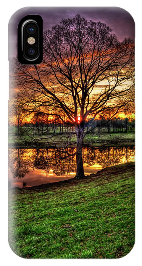 Reid Callaway Majestic Sunrise Reflections IPhone X Case featuring the photograph Majestic Sunrise Reflections Art by Reid Callaway