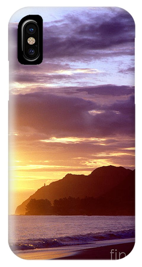 Hawaii IPhone X Case featuring the photograph Makapuu Point Sunrise by Thomas R Fletcher