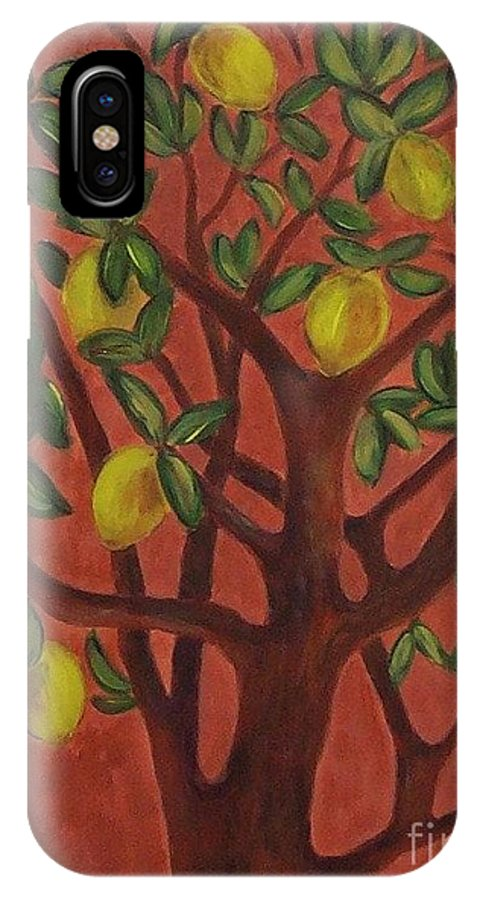 Lemon IPhone Case featuring the painting Make Lemon Aid by Jeanie Watson