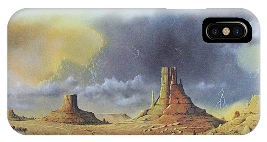 Landscape IPhone X Case featuring the painting Making Up Time by Don Griffiths