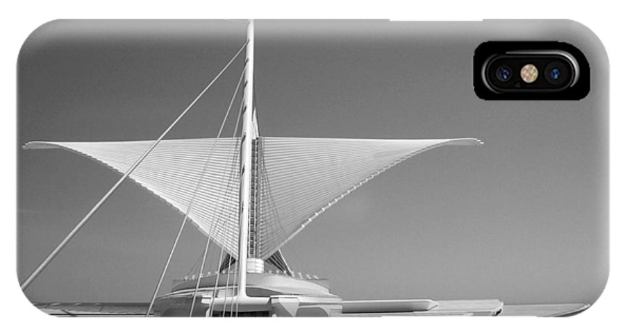 Mam IPhone X Case featuring the photograph Mam Wings Spread B-w by Anita Burgermeister