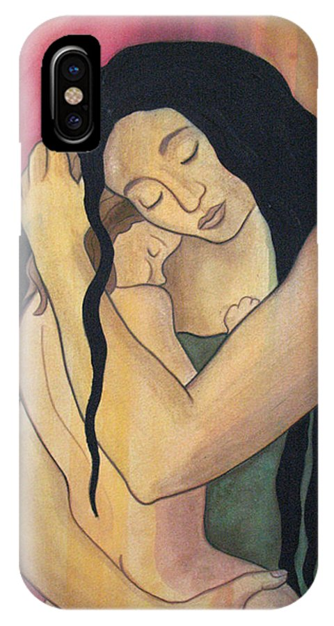 Mother IPhone X Case featuring the painting Mama by Kimberly Kirk