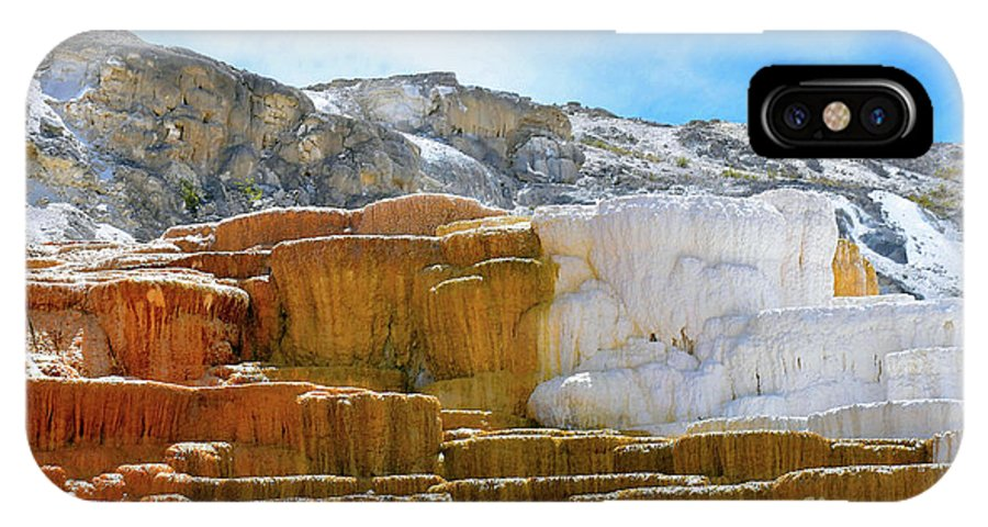Yellowstone IPhone X Case featuring the photograph Mammoth Hot Springs4 by Hughes Country Roads Photography