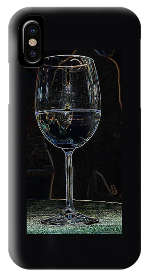 Wine IPhone X Case featuring the photograph Man In A Glass by Ian MacDonald