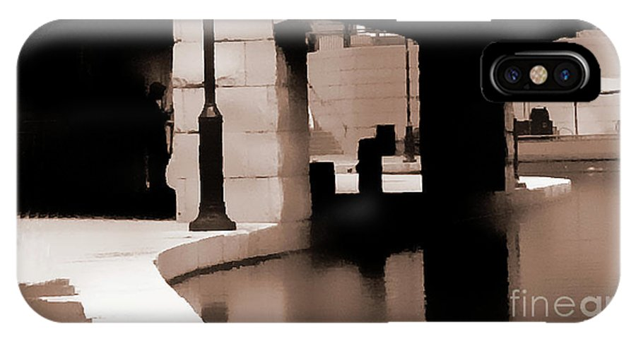 City IPhone X / XS Case featuring the photograph Man In Shadows by Doug Berry
