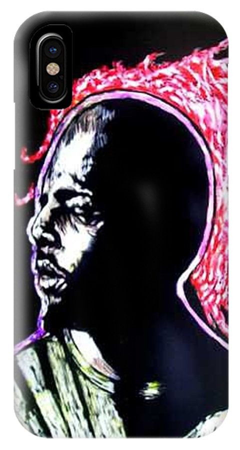 IPhone X Case featuring the mixed media Man On Fire by Chester Elmore