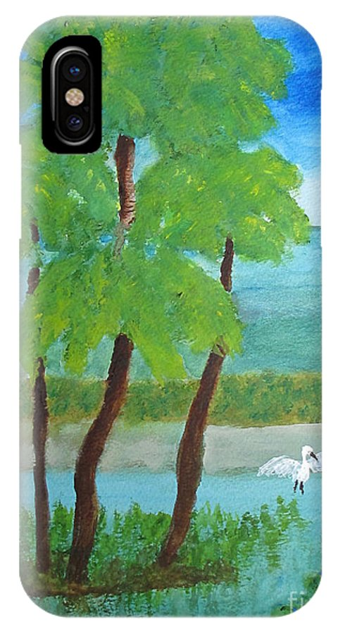 Manatee IPhone X Case featuring the painting Manatee Refuge Part 1 by Sandy McIntire