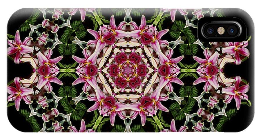 Mandala IPhone X Case featuring the photograph Mandala Monadala Lisa by Nancy Griswold
