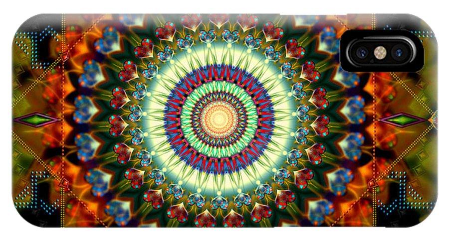 Mandala IPhone X Case featuring the digital art Mandala Of Loves Journey by Stephen Lucas