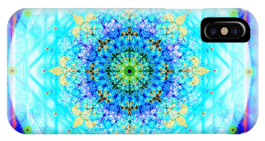 Mandala IPhone X Case featuring the digital art Mandala Of Womans Spiritual Genesis by Stephen Lucas