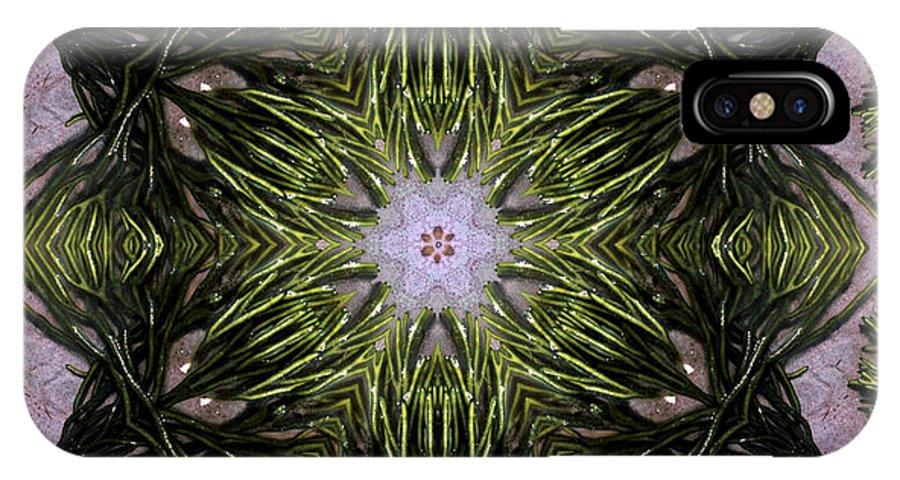 Mandala IPhone X Case featuring the digital art Mandala Sea Sponge by Nancy Griswold