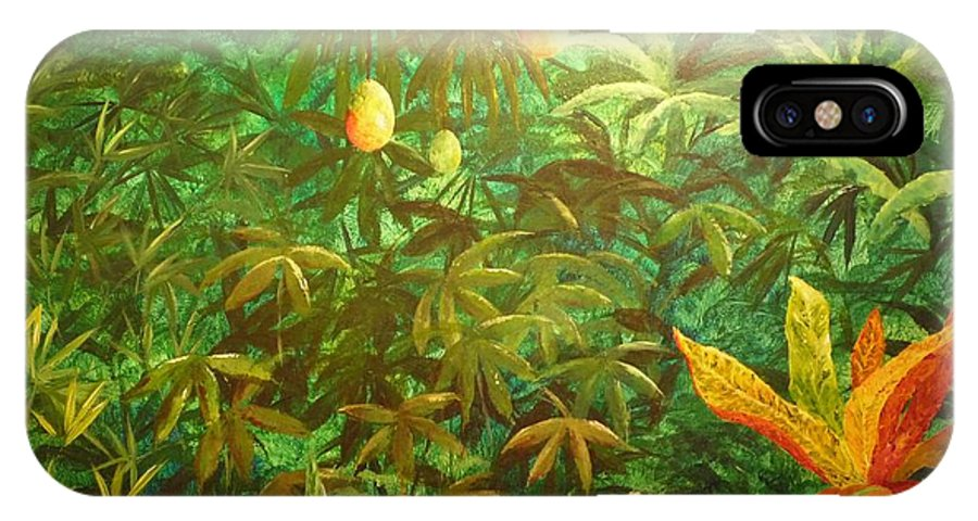 Mango IPhone Case featuring the painting Mango Hill by Patti Bean