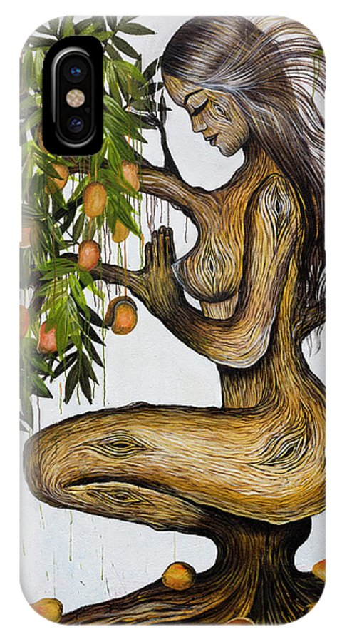 Art IPhone X Case featuring the photograph Mango Lady by Mark Schmiedeberg