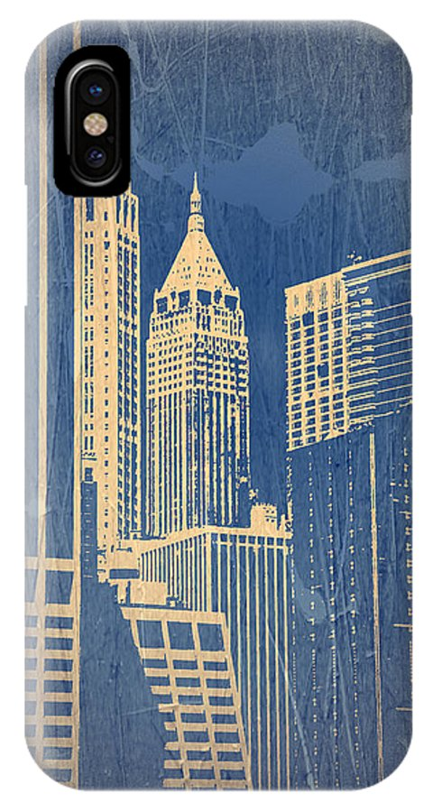 Chrysler Building IPhone X Case featuring the photograph Manhattan 1 by Naxart Studio
