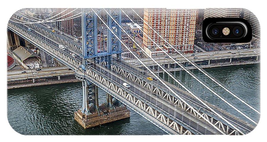 Nyc IPhone X Case featuring the photograph Manhattan Bridge 6413 by Karen Celella