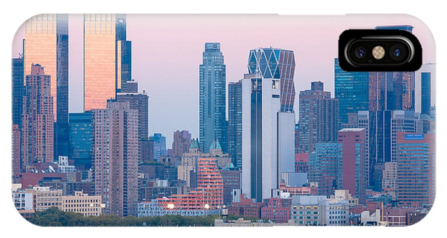 Clarence Holmes IPhone X Case featuring the photograph Manhattan Cruise Terminal And Skyline by Clarence Holmes