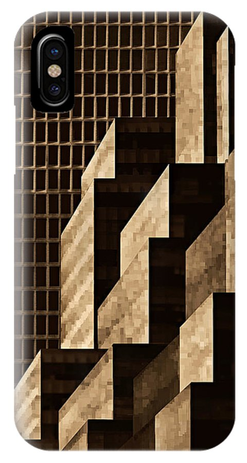 New York IPhone X Case featuring the digital art Manhattan No. 3 by Joe Bonita