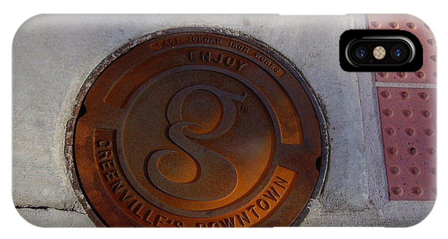 Manhole IPhone X Case featuring the photograph Manhole I by Flavia Westerwelle