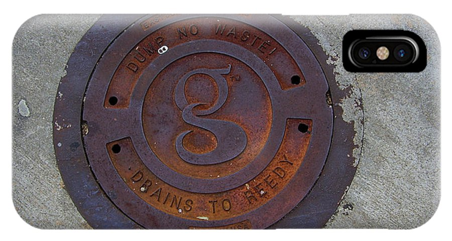Manhole IPhone X Case featuring the photograph Manhole IIi by Flavia Westerwelle