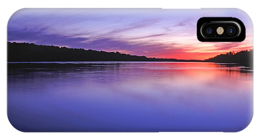 Landscape IPhone X Case featuring the photograph Manidooziibi by Bill Morgenstern