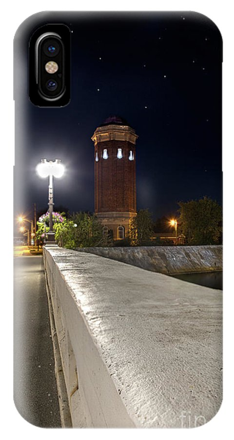 Manistique IPhone X Case featuring the photograph Manistique Water Tower Big Dipper -2293 by Norris Seward