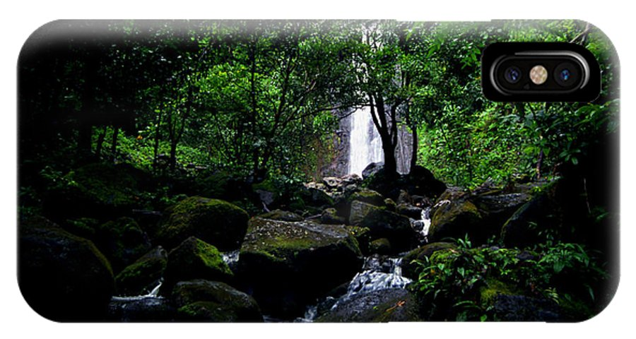Hawaii IPhone X Case featuring the photograph Manoa Falls Stream by Kevin Smith
