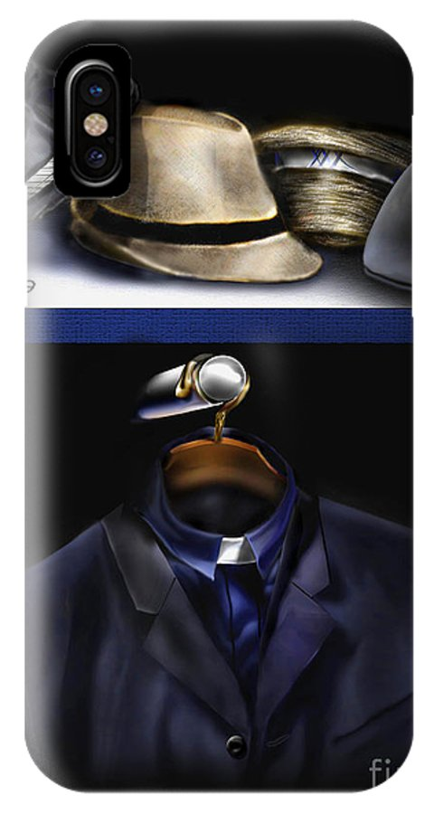 Still Life Painting IPhone X Case featuring the painting Many Hats One Collar by Reggie Duffie