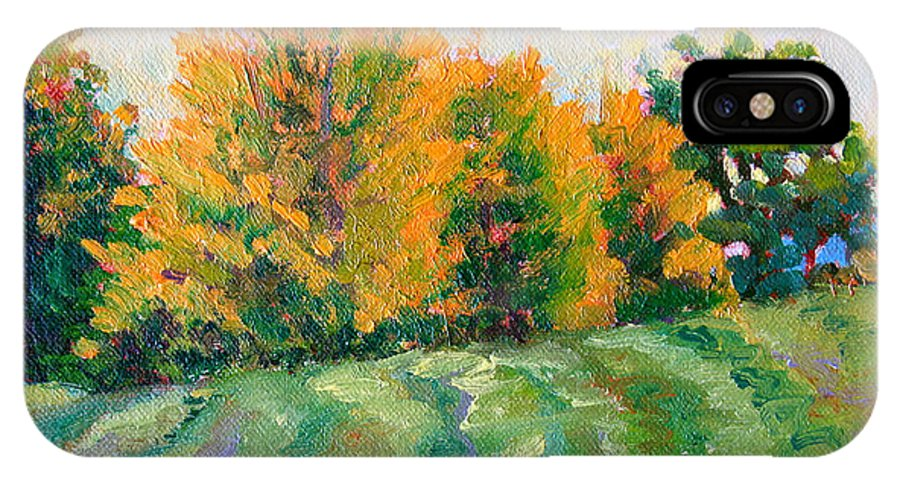 Impressionism IPhone X / XS Case featuring the painting Maple Grove by Keith Burgess