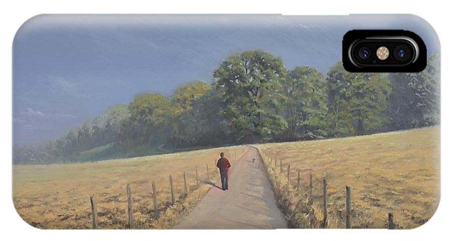Landscape IPhone X Case featuring the painting Mapledurham by Richard Picton